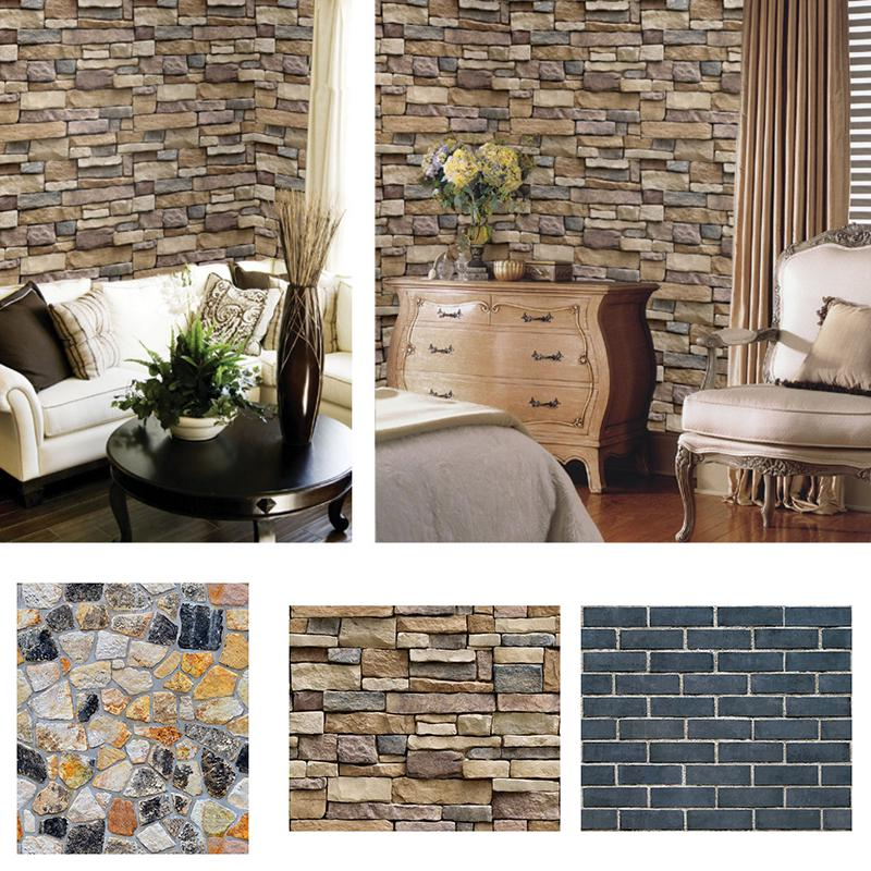 Three Dimensional Imitation Brick Stone Stick-on Wall Sticker Waterproof Sale