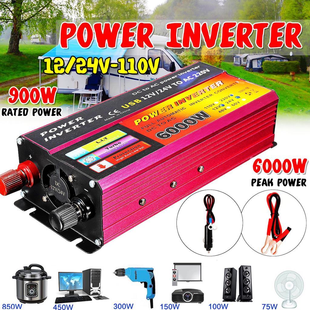 150W Wechselrichter USB-Port 12V 24V 230V Spannungswandler Stromwandler