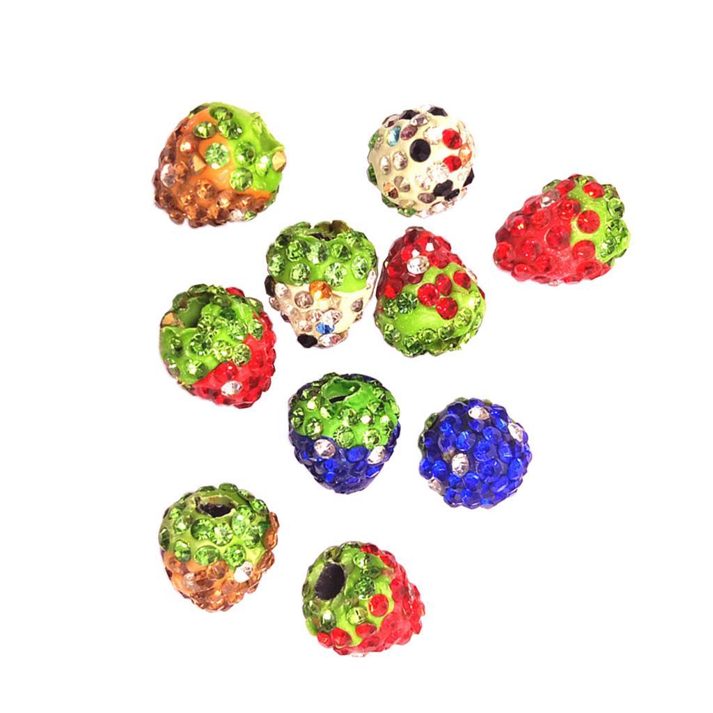 10 piezas de filigrana de Diamantes de Imitación Bolas Espaciadores Granos Redondos de fabricación de joyería 6-14mm