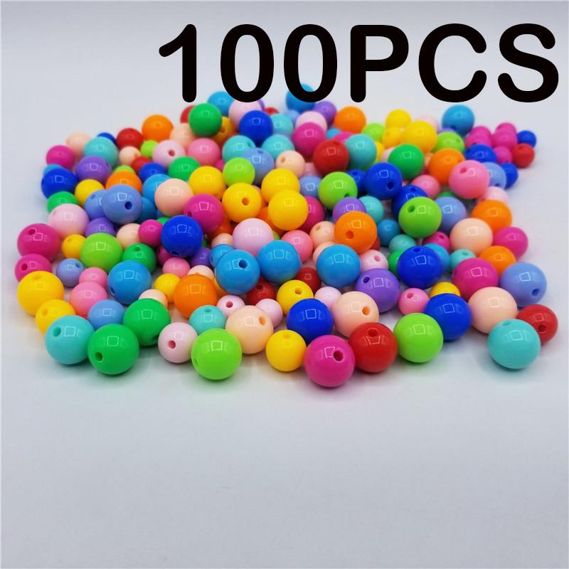 50pcs//Lot 8mm Mix Round Letter Beads Acrylic Spaced Beads For Jewelry Making DIY