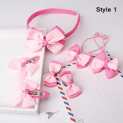 2//1 Pc Bowtie Kids Girl Baby BB Hair Snap Clip Hair Pins Barrettes Hair Bow