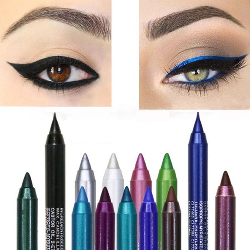 Женщины Долгосрочный Пигмент водонепроницаемый цветной подводка для глаз Eye Shadow Eye mazing Pen Eye Макияж инструмент фото