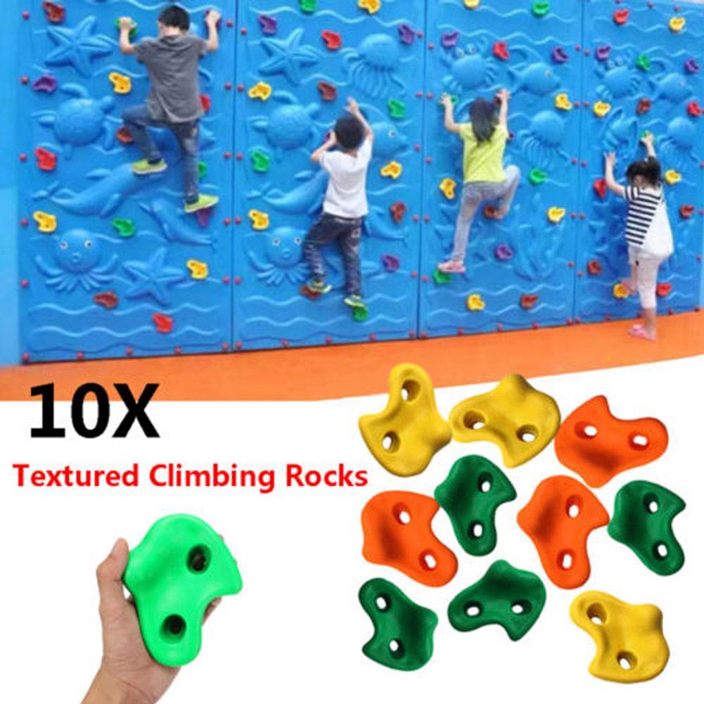 50 Rock Climbing Gym Holds Brand new RANDOMS Grips Kids Swingset