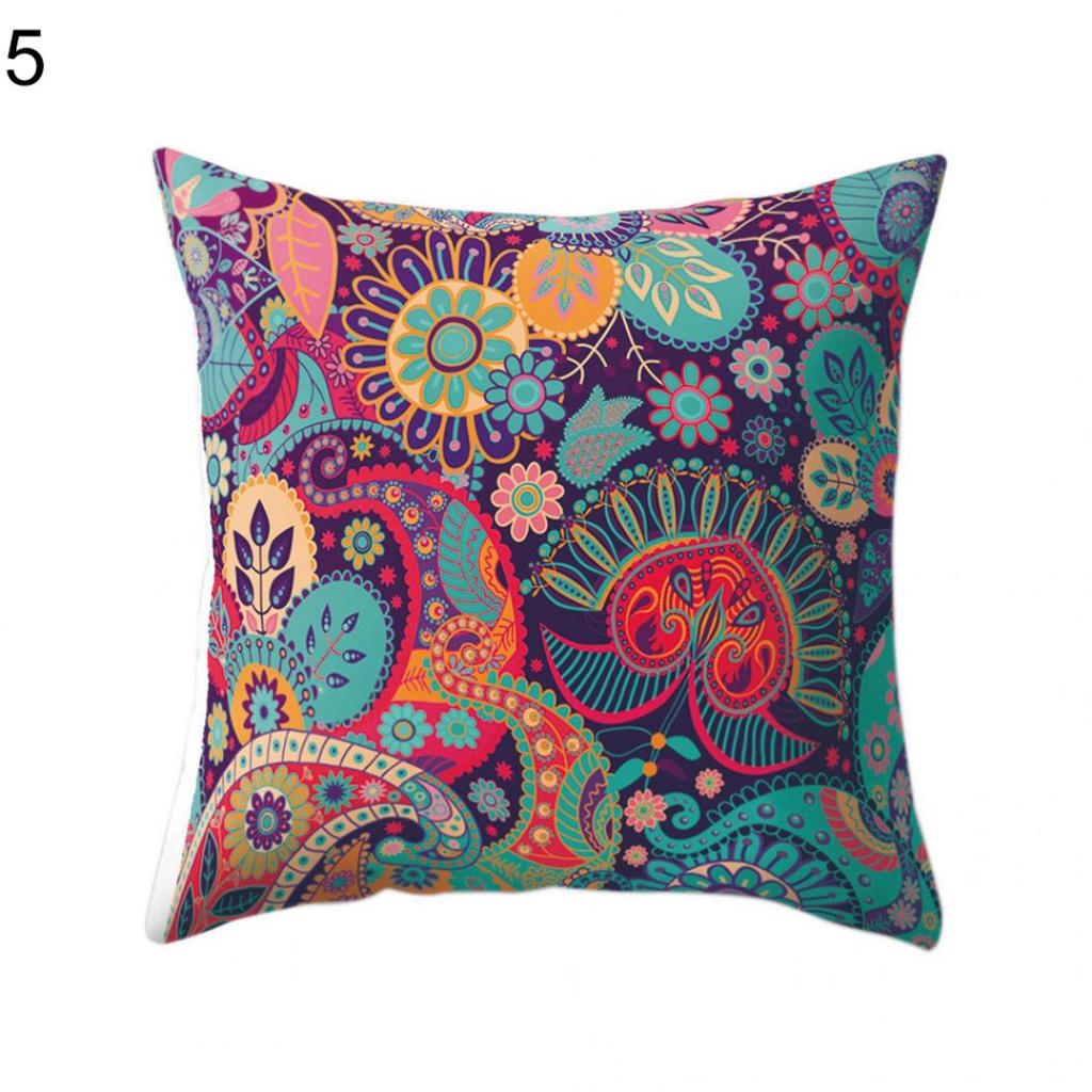 Home Art Decor Pillow Case Sofa Waist Cushion Cover Multicolors Solid Corduroy