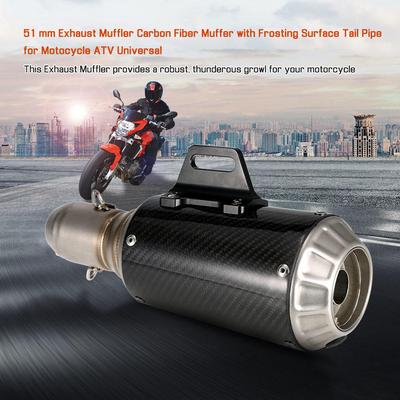 51mm Frosted Exhaust Muffler Pipe with Net Tail Universal for