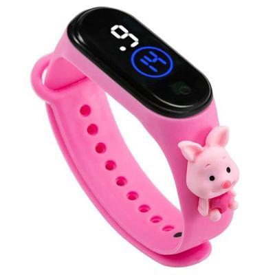 Children's Sports Watch LED Digital Watertight Wristwatch Boy Girl Lovely Cartoon Silicone Watches