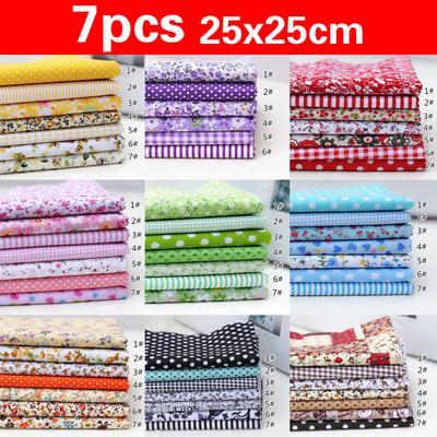 9Colors Scrapbook Sewing Crafts Bundle Patchwork Handmade Cotton Fabric Diy Quilting (Size:25x25cm)