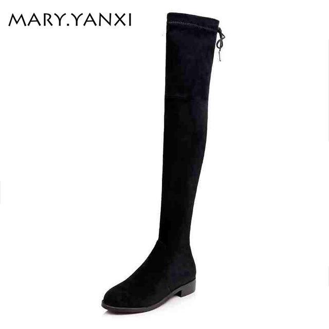 Висока якість жінок взуття чоботи Zip Bowtie вузькоспеціальної лицар ... d3424be9884e4