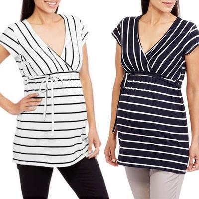 1pc Pregnant Women Maternity Nursing Blouse T-Shirt Vest Tank Half Sleeve Tops