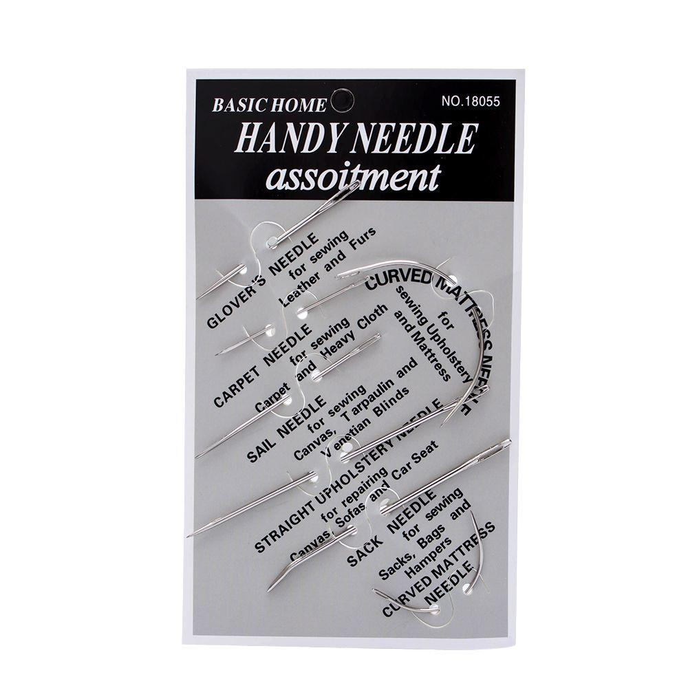 Set of 7 Hand Repair Upholstery Sewing /& Curved Needles Carpet Leather Canvas