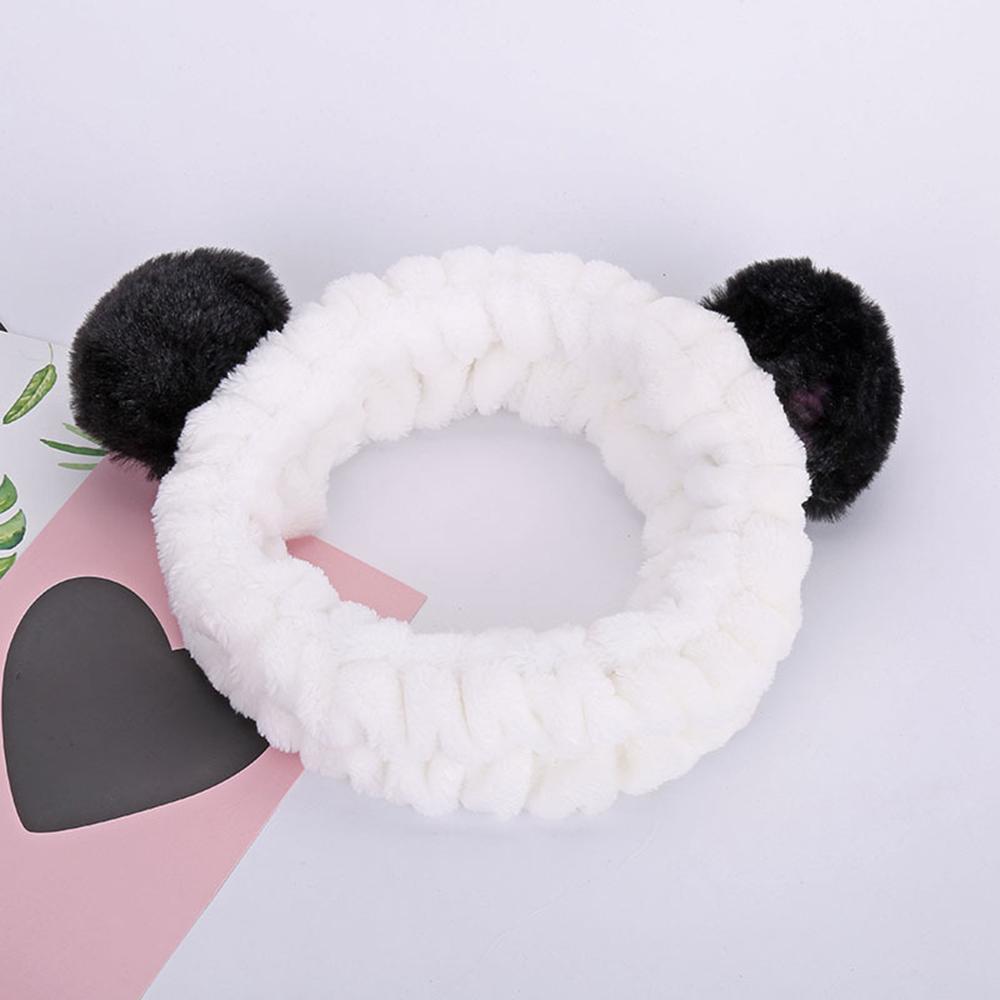 Women Cute bow Wash Hair Band Makeup Plush Girl Headband HairHoop Hair Accessory
