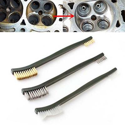 New 3pcs Double-ends Steel Brass Nylon Cleaning Wire Brushes Set Practical Tools