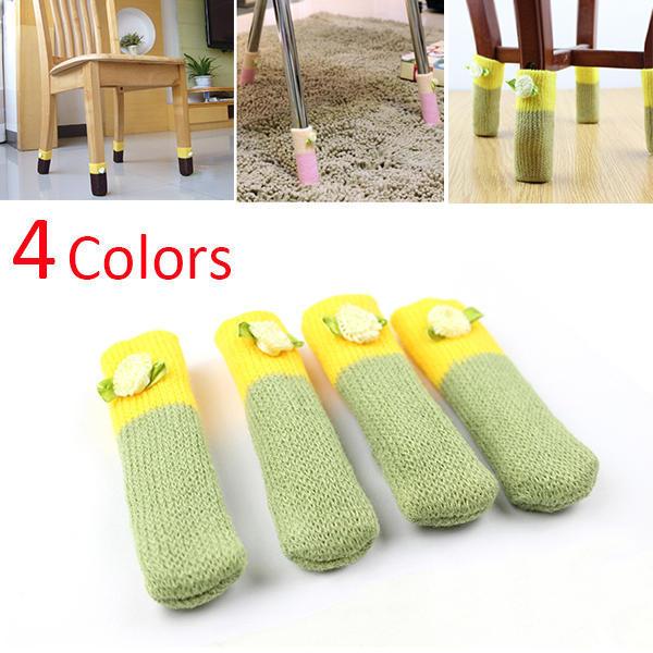 Useful Table Chair Foot Leg Knit Cover Protector Socks Sleeve Protect Floor 2X