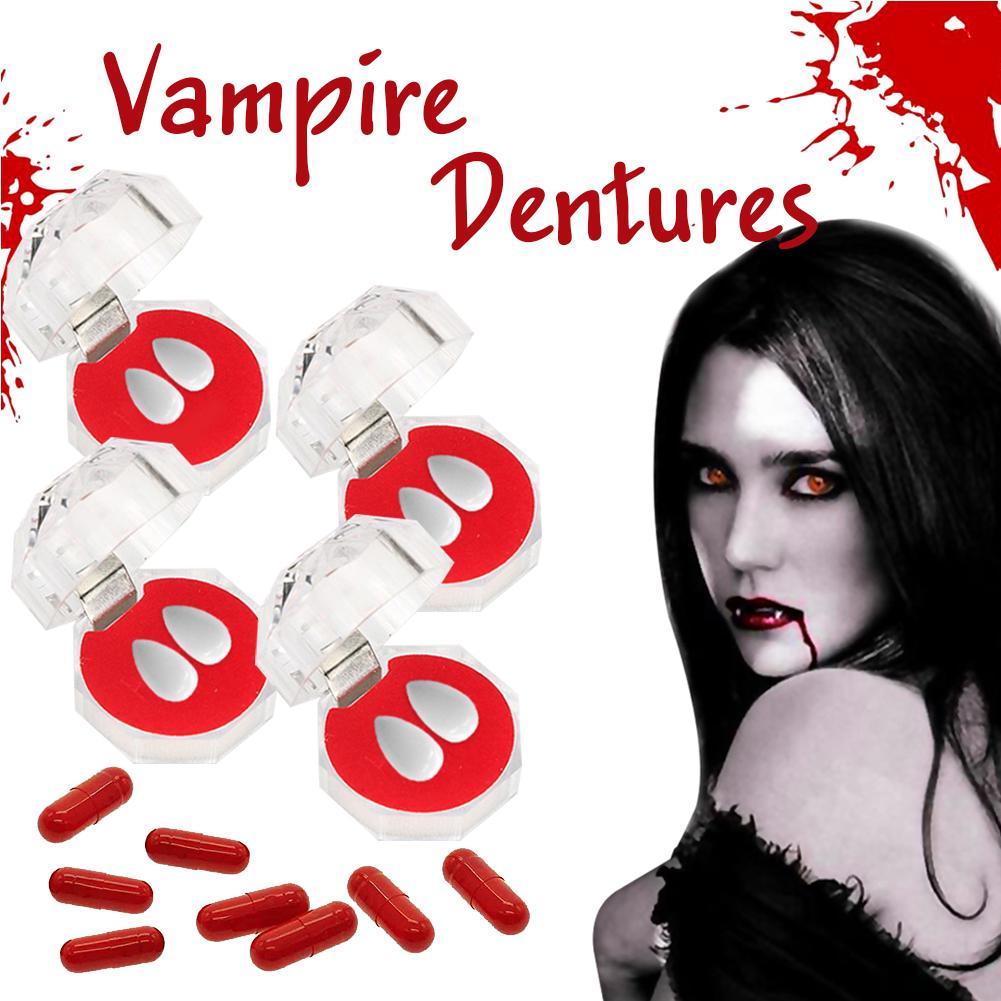 Vampire Character Teeth Full Set Zombie Fancy Dress Adult Halloween Accessory