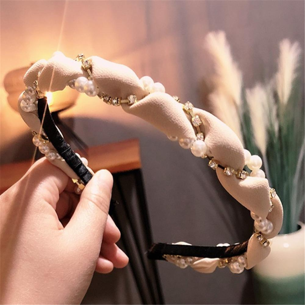 Pearl Crystal Head Wear Hoop Headband Hairband Hair Band Accessories Girls Women
