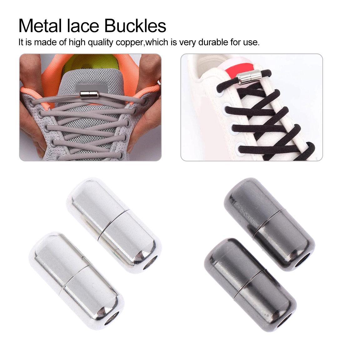2Pcs Металлические Shoelaces Buckles Удобные Tieless Ленивые кружева Нет галстук Аулейс Пристегивай обувь Аксессуары