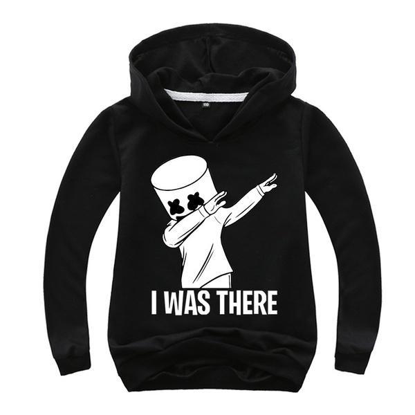 Kids Boys Hooded Marshmello DJ Hoodie Sweatshirt Sports Pullover Casual Coat