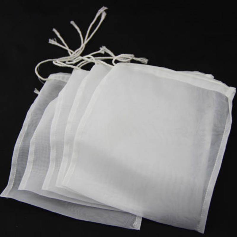 5Pcs 100//160//200 Nylon Straining Bag Fine Mesh Home Brew Filter Bags Accessory