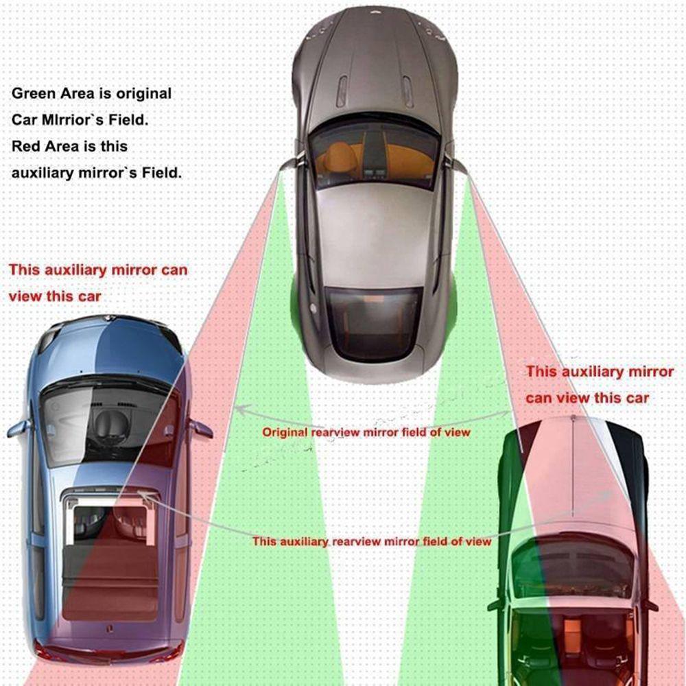 2шт новых HD вспомогательный Регулируемый автомобильный Auto зеркало заднего вида универсальная парковка сторона фото