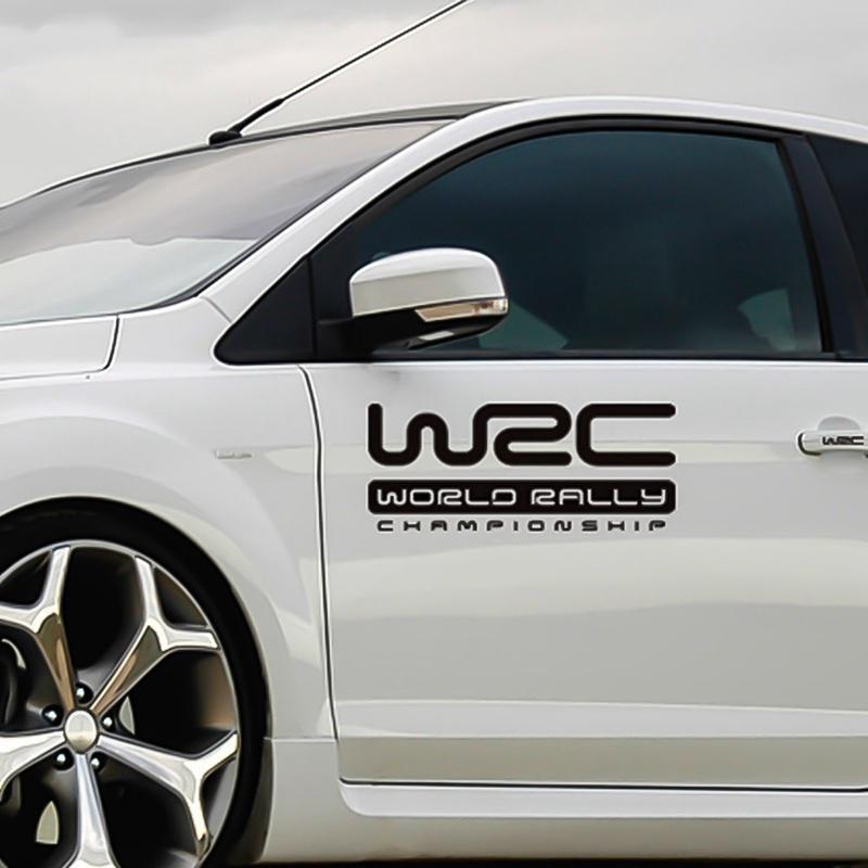 WRC World Rally Championship Car Anti-Collision Mirror Emblems Decal Stickers