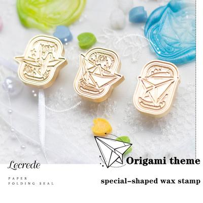 Creativity Origami Theme Wax Stamp Thousand Paper Cranes Paper Boat Paper Airplane
