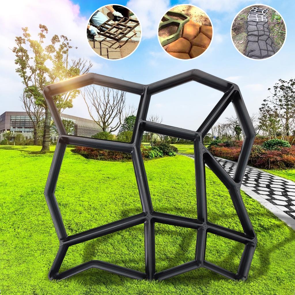 Garden DIY Driveway Paving Brick Stone Mold Slabs Path Walk Maker Mould Hexagon