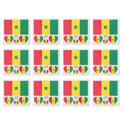 12 Unids País Bandera Tatuaje Pegatinas Deportes Cuerpo Cara