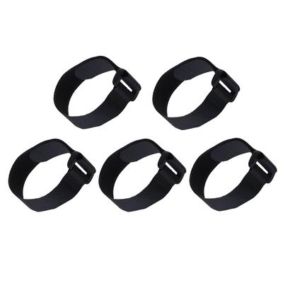 12mm x 450mm BLACK HOOK AND LOOP CABLE HARNESS NYLON WRAPS TIES TV WIRE TIDY