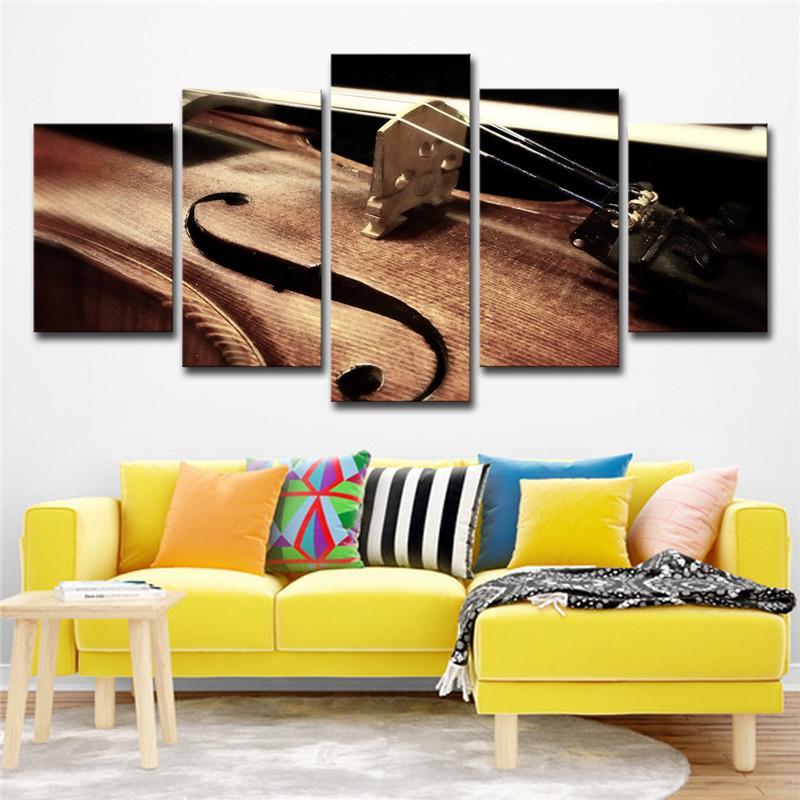 5 Piese Vioara şir Tablouri Sufragerie Instrumente Muzicale Imagini