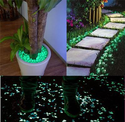 20/40/100pcs Glow Pebbles Stones Home Fish Tank Outdoor Decor Garden Stones Luminous Glowing
