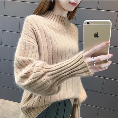 Winter Women Turtleneck Sweater Long Sleeve Knitted Sweaters