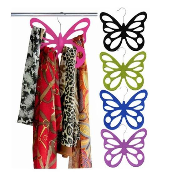 3 Butterfly Scarf Holder Organizer holds 12 Scarves Hanger