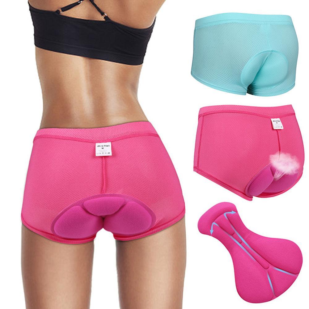 Women Men Cycling Bicycle Shorts Gel 3D Padded Soft Underwear Bike Bottoms Pants