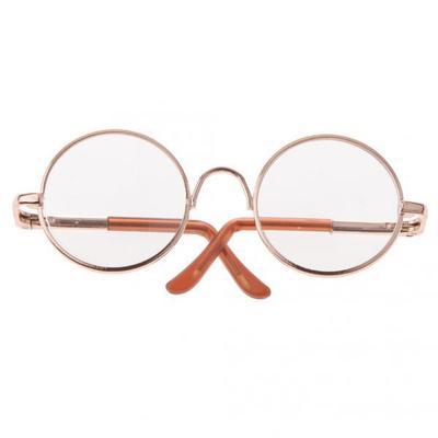 Cute Round Frame Eyeglasses Clear Lens Eyewear for 12 Blythe Dolls Accessory