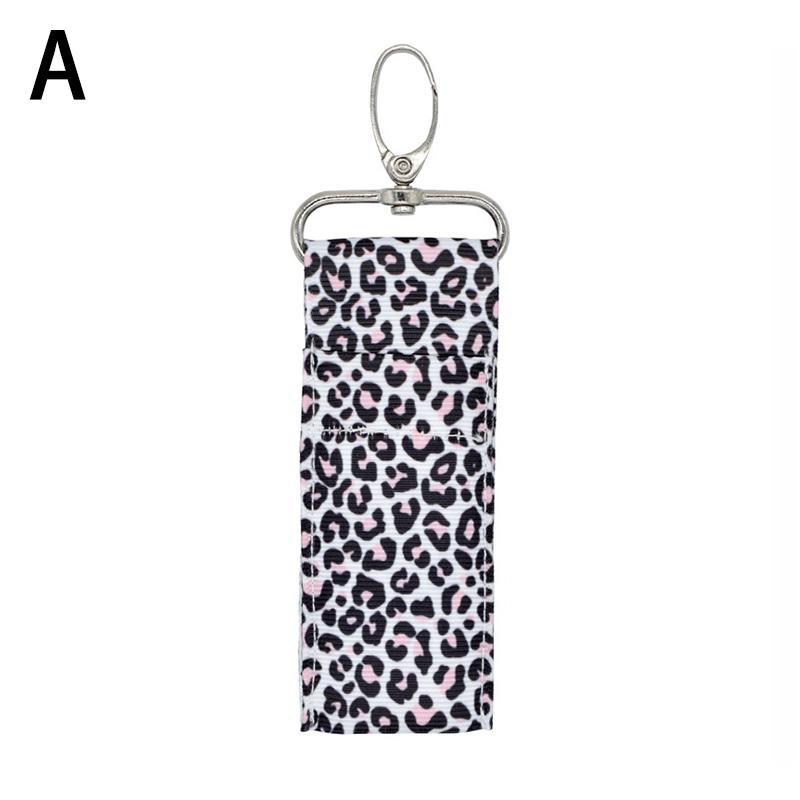 1pc Lip Balm Bag KeyRing Chapstick Holder Charm Lipstick Pouch Key Chain Keyring