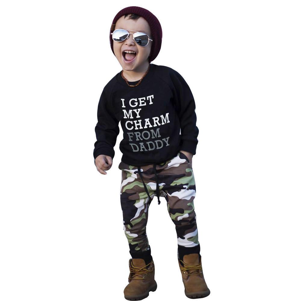 Moneycom Toddler Kinder Baby M/ädchen Camouflage Letter T-Shirts Denim R/öcke Sommer Outfits Camouflage