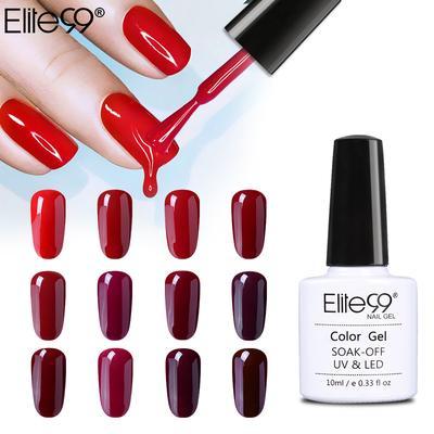 Elite99 10ml Vino Color Rojo Esmalte De Uñas Semi Permanente