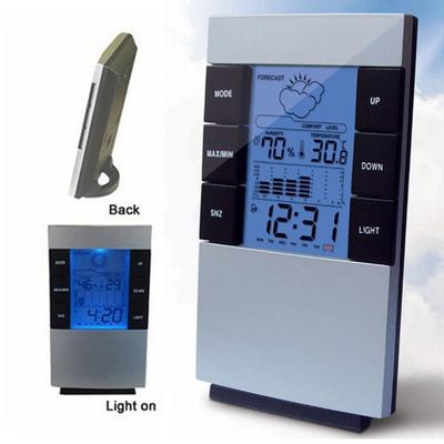 High Quality Wireless Weather Station Forecast Indoor Thermometer Hygrometer Clock