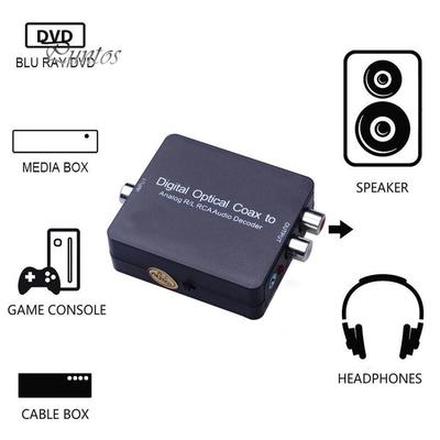 5.1 Dolby/&DTS Digital Optical Coax to Analog R//L RCA Audio Decoder Converter