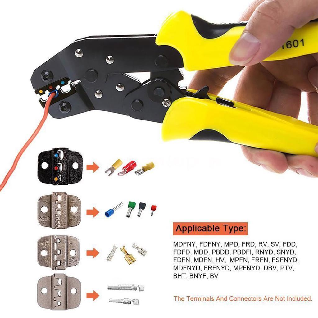 PARON JX D4 Multifunctional Steel Ratchet Crimping Tools Terminals Pliers Kit