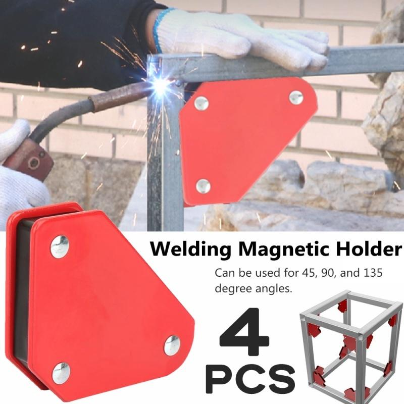 4pc Strong Corner Magnet Welding Arrow Clamp Magnetic Holder Fixer Welder Tools