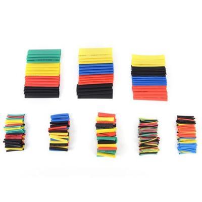 Heatshrink mixtes tube. noir et jaune de la chaleur manches rétractables rouge bleu