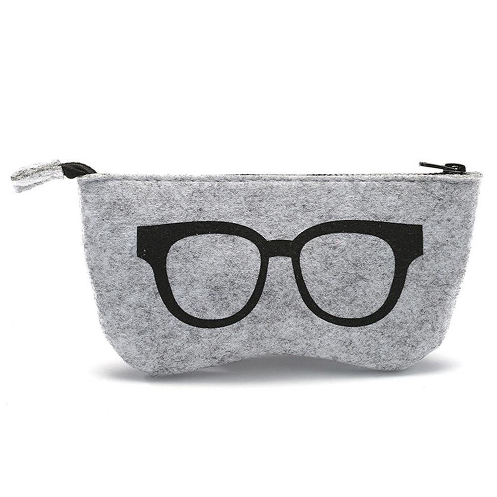 Men's Glasses High Quality Felt Bag For Glasses Ultralight Portable Eyeglass Case Box Sunglasses Accessories B4 Eyewear Accessories
