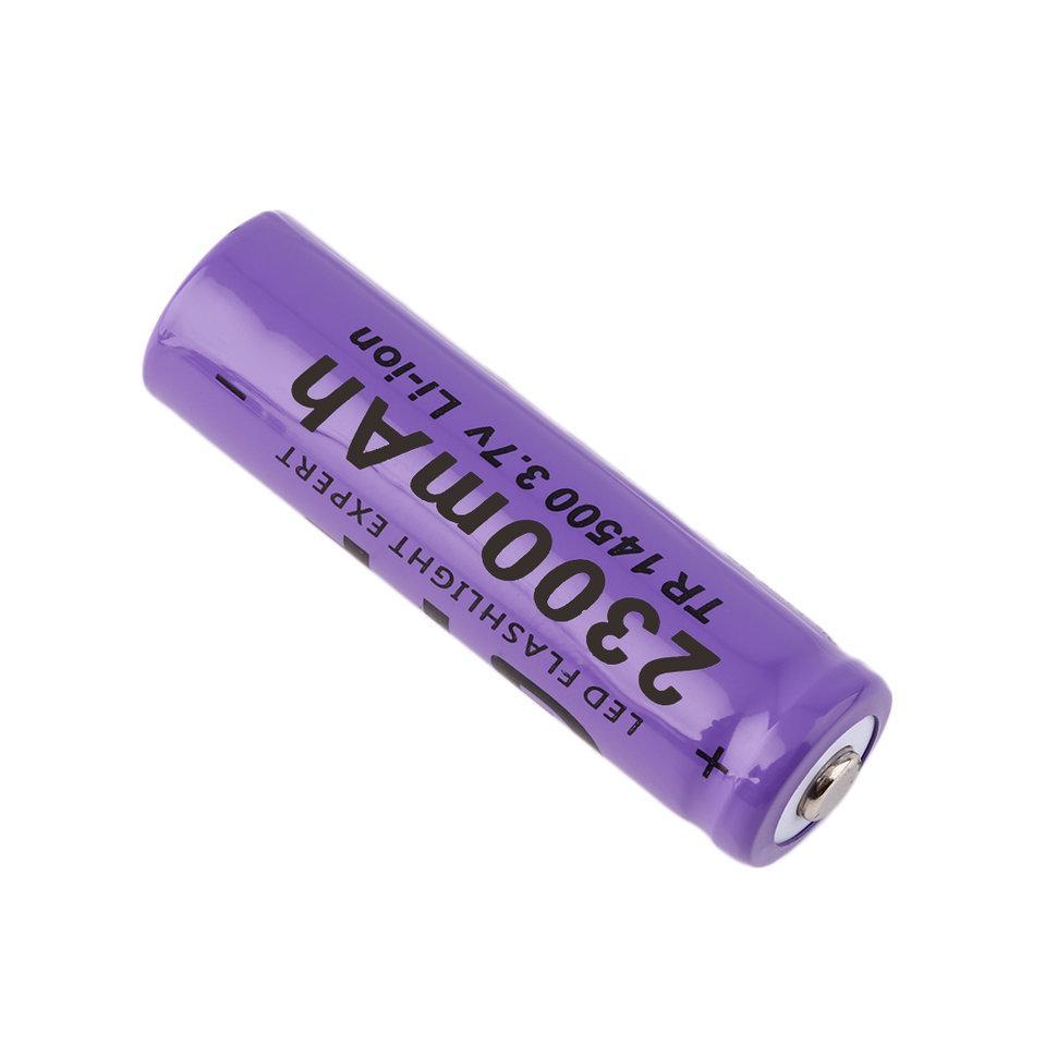 Ocday 4pcs 37v 14500 2300mah Li Ion Rechargeable Battery For Baterai Batre Recharge Aa A2 2 Of 7