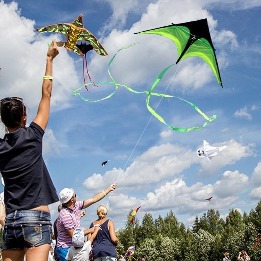 NEW 4m single line Stunt blue Elephants POWER Sport Kite outdoor toys