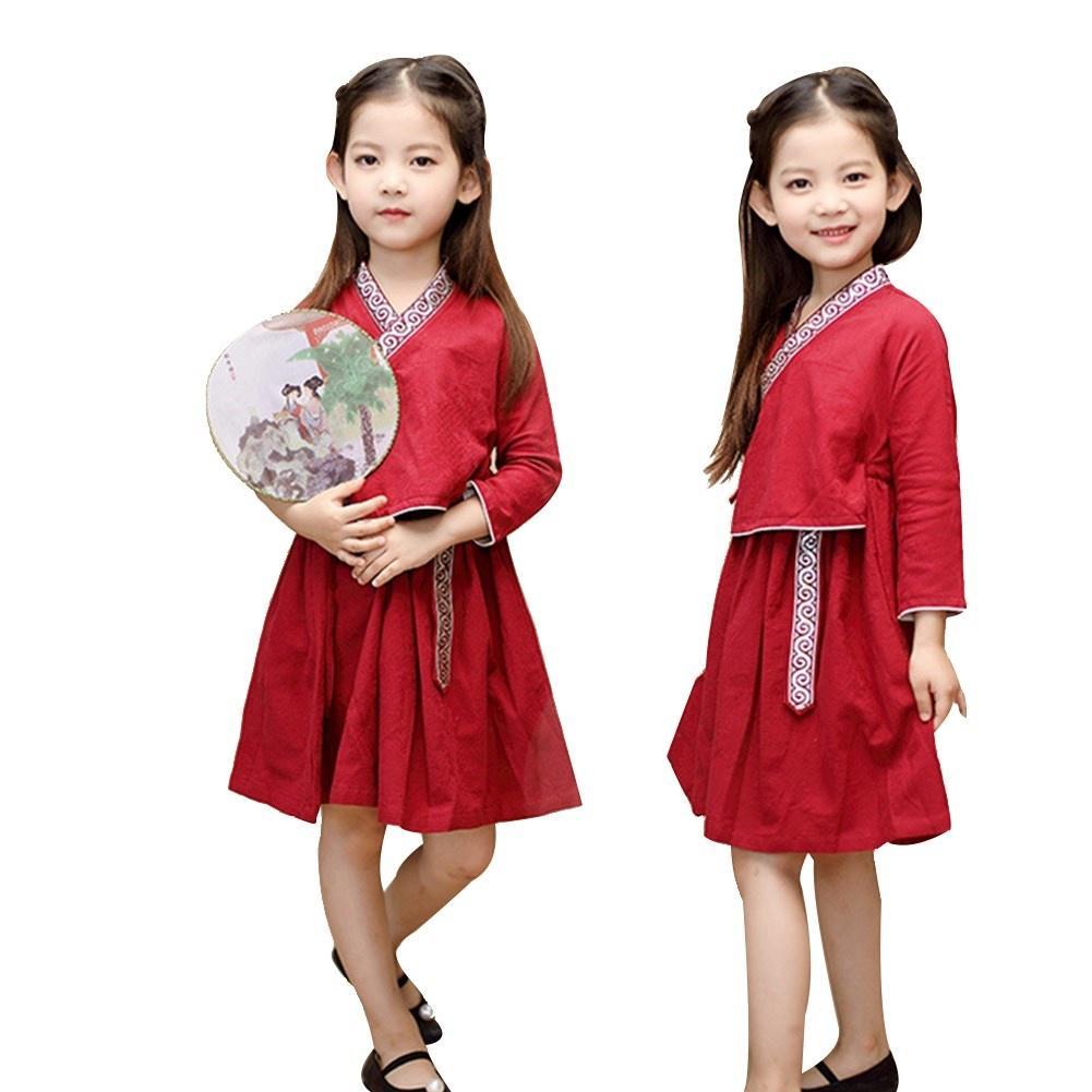 Baby girl Chinese style cheongsam children dress Tang suit princess dress