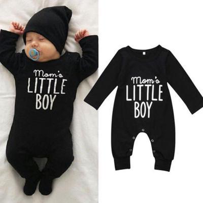 Mama Bear Printed Newborn Infant Baby Boy Girl Bodysuit Long Sleeve Rompers Black