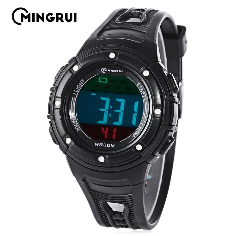 58d07ef81df7 MINGRUI Señor - 8556096 niños Digital Movt reloj luz LED fecha día alarma  cronógrafo 3ATM reloj de pulsera - comprar a precios bajos en la tienda en  línea ...