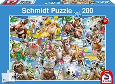 Howard Robinson-animales Selfies-Schmidt Puzzle 56294-200 pièces XXL PC.