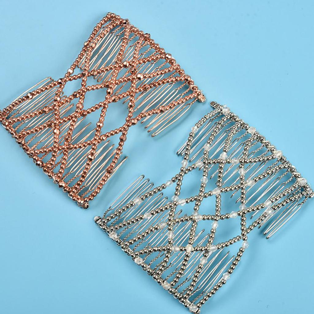 Details about  /Women/'s Magic Bead Stretch Hair Comb Clip Hairpin Headwear Hair Accessory